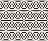 Vector Seamless Black And White Triangle Lines Geometric Grid Pattern Stock Photo