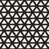 Vector Seamless Black And White Triangle Lines Grid Pattern Stock Photo