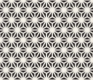 Vector Seamless Black And White Triangle Lines Grid Pattern Stock Photography