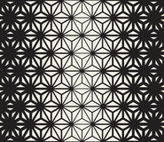 Vector Seamless Black and White Triangle Lines Grid Pattern Stock Photos