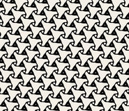 Vector Seamless Black And White Triangle Organic Rounded Line Pattern Stock Photo
