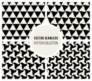 Vector Seamless Black & White Triangle Rounded Pattern Royalty Free Stock Image