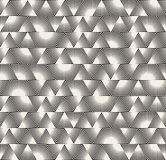 Vector Seamless Black and White Triangle Sunburst Lines Irregular Pattern Royalty Free Stock Images
