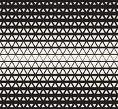 Vector Seamless Black and White  Triangles Halftone Grid Gradient Pattern Geometric Background Stock Photography