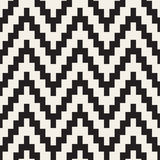 Vector Seamless Black and White ZigZag Jagged Lines Geometric Pattern. Abstract Geometric Background Design royalty free illustration