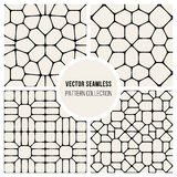 Vector Seamless Black And Whitec Pavement Pattern Collection Stock Photo
