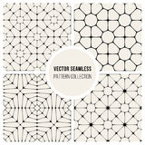 Vector Seamless Black And Whitec Pavement Pattern Collection Stock Photos