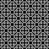 Vector Seamless black and whitel Floral Organic Triangle Lines Hexagonal Geometric Pattern. Vector Seamless Black and White Floral Organic Triangle Lines vector illustration