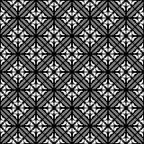 Vector Seamless black and whitel Floral Organic Triangle Lines Hexagonal Geometric Pattern. Vector Seamless Black and White Floral Organic Triangle Lines stock illustration
