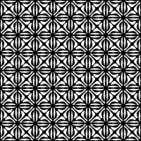 Vector Seamless black and white Floral Organic Triangle Lines Hexagonal Geometric Pattern stock illustration