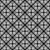 Vector Seamless black and whitel Floral Organic Triangle Lines Hexagonal Geometric Pattern. Vector Seamless Black and White Floral Organic Triangle Lines royalty free illustration