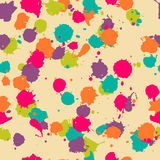 Vector seamless blot pattern in psychedelic colors stock illustration