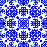 Vector seamless blue ornament background. And geometric pattern Royalty Free Stock Photography