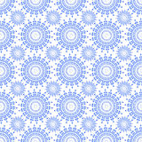 Vector seamless blue ornament. Background and geometric pattern Stock Photo