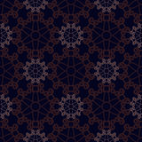 Vector seamless blue ornament background. And geometric pattern Royalty Free Stock Images