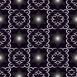 Vector seamless blue ornament background. And geometric pattern Stock Image