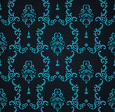 Vector seamless blue pattern with art ornament. Vintage elements for design in Victorian style. Ornamental lace tracery Royalty Free Stock Photos
