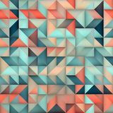 Vector Seamless Blue Pink Gradient Triangle Irregular Grid Square Pattern Stock Photography