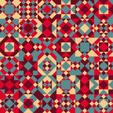 Vector Seamless Blue Red Color Overlay Irregular Geometric Blocks Quilt Pattern Royalty Free Stock Images
