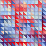 Vector Seamless Blue Red Gradient Triangle Grid Square Pattern Stock Photos