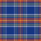 Vector seamless blue and red Scottish tartan Stock Photography