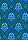 Vector seamless blue texture. Seamless  vector blue rhombus texture Royalty Free Stock Image