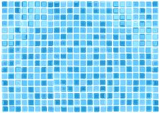 Vector Seamless Blue Tiles Background Stock Images
