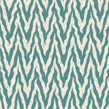 Vector Seamless Blue White Hand Drawn Zig Zag Distorted Lines Grunge Retro Pattern Stock Photography
