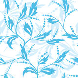 Vector seamless blue and white pattern  Stock Image