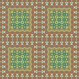Vector seamless bohemian ornament. Abstract geometric background.  Stock Photography