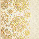 Vector seamless border with circle ornaments. Royalty Free Stock Photography
