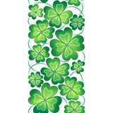 Vector seamless border with clover leaves. St. Patrick's day  pattern Stock Image