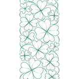 Vector seamless border with conture clover leaves. St. Patrick's day pattern Royalty Free Stock Photography
