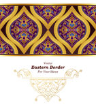 Vector seamless border in Eastern style. Stock Photography