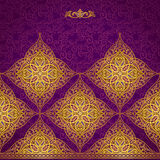 Vector seamless border in Eastern style. Royalty Free Stock Photo