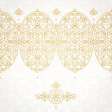 Vector seamless border in Eastern style. Royalty Free Stock Images