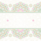 Vector seamless border in Eastern style. Stock Image