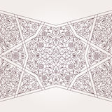 Vector seamless border in Middle Eastern style. Royalty Free Stock Images