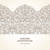 Vector seamless border in Middle Eastern style. Royalty Free Stock Image