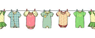 Baby clothes set stock illustration