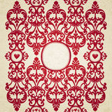 Vector seamless border. With swirls and floral motifs in retro style. Element for design. Place for your text. It can be used for decorating of invitations Stock Images
