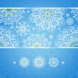 Vector seamless border with Victorian snowflakes. Stock Photography
