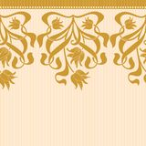 Vector seamless border in Victorian style. A Royalty Free Stock Image