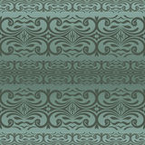 Vector seamless border in Victorian style. Damask seamless floral background pattern. Vector illustration vector illustration