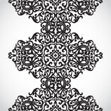 Vector seamless border in Victorian style. Element for design. It can be used for decorating of wedding invitations, greeting cards, decoration for bags and Royalty Free Stock Images