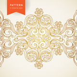 Vector seamless border in Victorian style. Stock Photography