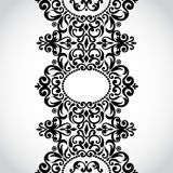 Vector seamless border in Victorian style. Element for design. Place for your text. It can be used for decorating of wedding invitations, greeting cards Stock Images