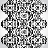 Vector seamless border in Victorian style. Element for design. Place for your text. It can be used for decorating of wedding invitations, greeting cards Royalty Free Stock Photo