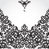 Vector seamless border in Victorian style. Element for design. Place for your text. It can be used for decorating of wedding invitations, greeting cards Royalty Free Stock Image
