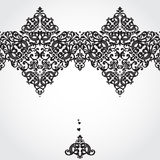 Vector seamless border in Victorian style. Element for design. Place for your text. It can be used for decorating of wedding invitations, greeting cards Stock Photo